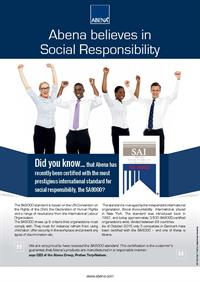 A4 flyer - Abena believes in Social Responsibility - UK